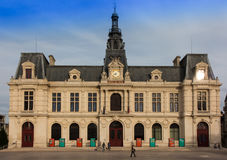Town Hall, Hotel de Ville in Poitiers Royalty Free Stock Photography