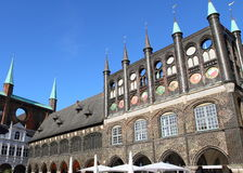 Town Hall In Lubeck Royalty Free Stock Photos