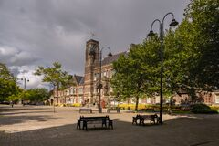 Free Town Hall In St Helens Merseyside Stock Image - 197837691