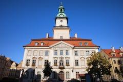 Town Hall in Jelenia Gora. Town Hall building, city landmark in Jelenia Gora, Poland, Classical architecture from 18th century royalty free stock photo