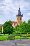 Town hall on Karlove Namesti in Prague, Czech Republic Royalty Free Stock Photography