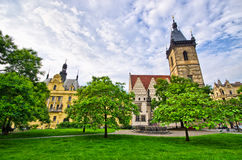 Town hall on Karlove Namesti in Prague, Czech Republic Royalty Free Stock Images