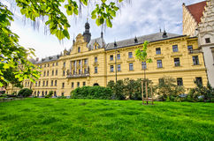Town hall on Karlove Namesti in Prague, Czech Republic Royalty Free Stock Image
