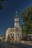 Town hall in Kezmarok Slovakia town. Town hall in Kezmarok Slovakia old historical town royalty free stock image