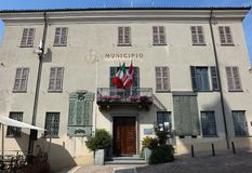 The Town Hall of La Morra in Piedmont. Italy Stock Photo