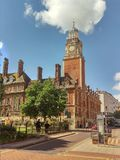 Town Hall Leicester England. The old historical brick building of the Town Hall in Leicester stock photo