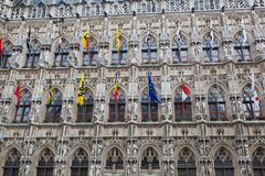 Town Hall in Leuven Stock Photo