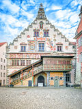 Town hall Lindau Germany. A hdr image of the famous town hall in Lindau Germany Stock Photography