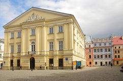 The Town Hall of Lublin, Poland. LUBLIN/POLAND - APRIL 16 - the town hall in Lublin on the 16th of April, 2014 in Lublin/Poland royalty free stock photo