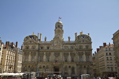 The town hall in Lyon, France Royalty Free Stock Images