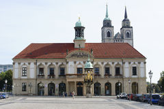 Town hall Magdeburg Stock Photography