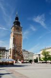 Town Hall on main market square,Krakow, Poland stock photos