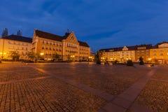 Town Hall on Main Square in Cesky Tesin Stock Photos
