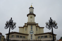 Town hall on the main square of Ivano-Frankivsk,Ukraine Stock Photo