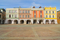 Town Hall, Main Square (Rynek Wielki), Zamosc, Poland Stock Photo