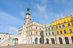 Town Hall, Main Square (Rynek Wielki), Zamosc, Poland Stock Photography