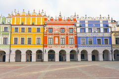 Town Hall, Main Square (Rynek Wielki), Zamosc, Poland Royalty Free Stock Photo