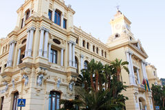 Town hall, Malaga, Spain Stock Images