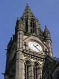 Town Hall Manchester. Detail of Town Hall building in Manchester, England stock images