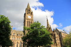 Town hall of Manchester. And albert square Royalty Free Stock Photos