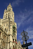 Town hall at the Marienplatz Royalty Free Stock Images