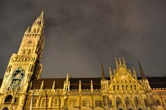 Town hall at the Marienplatz in Munich Stock Photography