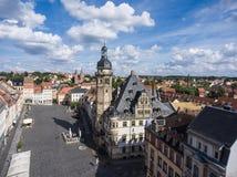 Town hall market in Altenburg Thuringia Royalty Free Stock Photos