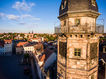 Town hall market in Altenburg Thuringia Stock Photography
