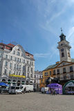 Town Hall on the market square in Cieszyn, Poland royalty free stock photos
