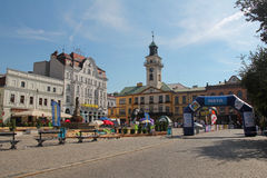 Town Hall on the market square in Cieszyn, Poland Stock Photos