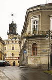 Town Hall and market square in Jaroslaw. Poland Stock Photography