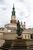 Town Hall on the Market Square in Poznan, Poland. Royalty Free Stock Images