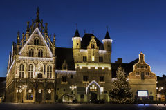 Town Hall in Mechelen during Christmas in Belgium Royalty Free Stock Photography