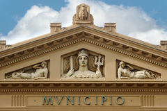 The town hall of Messina: detail Stock Photos