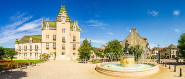 View of Meursault, France royalty free stock photos