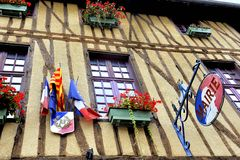 Town hall of Mirepoix Stock Image