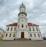 Town Hall, Mogilev, Belarus. View of the Town Hall on overcast day, Mogilev, Belarus Royalty Free Stock Image