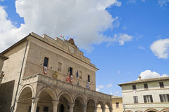 Town hall. Montefalco. Umbria. Stock Photography