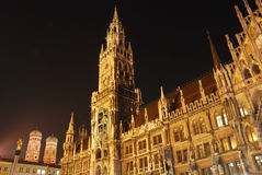 Town hall Munich. Town hall and frauenkirche Munich at night Stock Photography