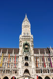 Town hall munich. Picture taken from below Royalty Free Stock Image