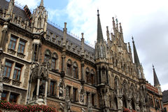 Town Hall, Munich. The New Town Hall (Neues Rathaus) at Marienplatz in Munich, Bavaria, Germany Stock Photography