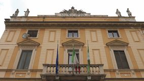 Town hall (municipio), Garlasco, PV, Italy.  stock footage
