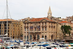 Town hall near harbour in Marseille, France Royalty Free Stock Photo