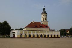 Town Hall in Nesvizh. Belarus Royalty Free Stock Photos