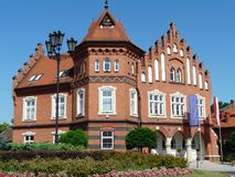 THE TOWN HALL IN NIEPOLOMICE , POLAND royalty free stock photos