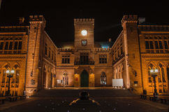 TOWN HALL AT NIGHT Stock Photography