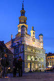 Town Hall at night. Poznan. Poland Stock Photography