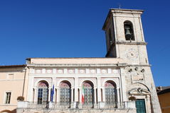 Town Hall of Norcia. The Town Hall of Norcia. Umbria, Italy Royalty Free Stock Photos