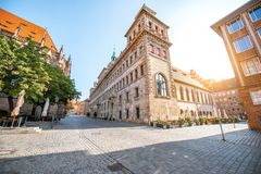 Town hall in Nurnberg, Germany. Morning view on the old town hall building in Nurnberg, Germany stock photo