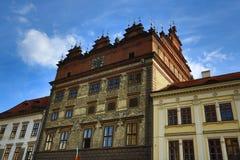 Town Hall,  old architecture, Pilsen, Czech Republic Stock Photo